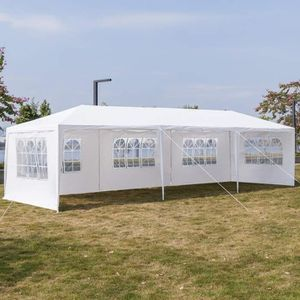 10 x 30 Ft Steel Party Tent Canopy White Outdoor Wedding Events Side Walls Weather Resistant for Sale in Temple City, CA