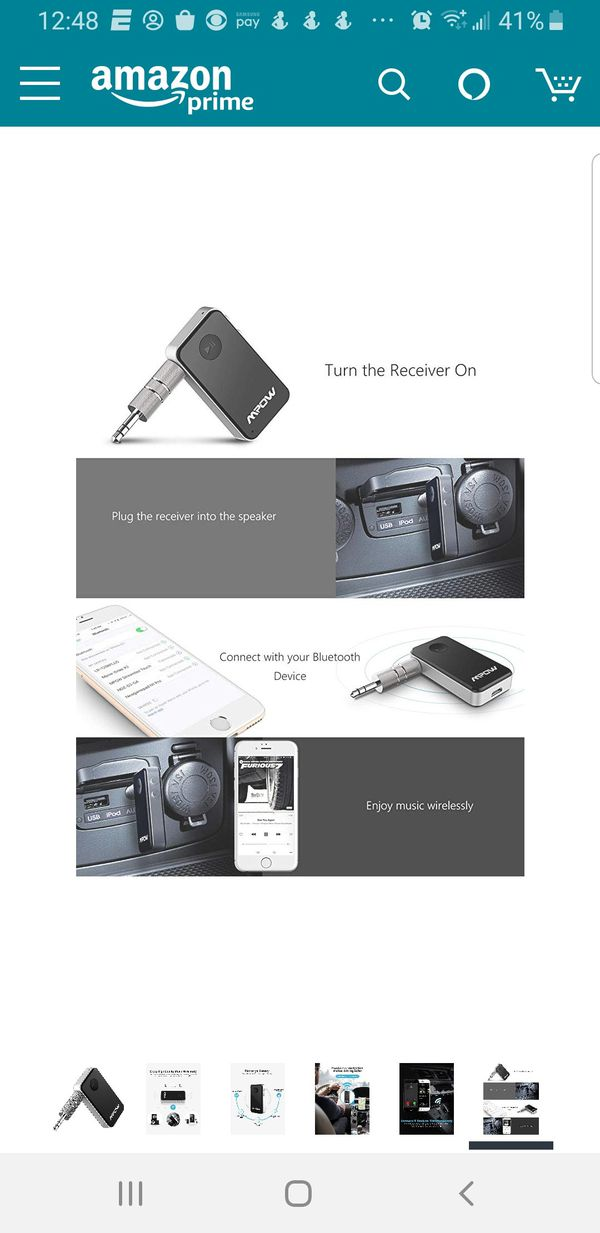 Mpow Bluetooth Receiver for car