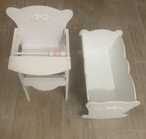 Doll cradle and high chair for Sale in Hialeah, FL