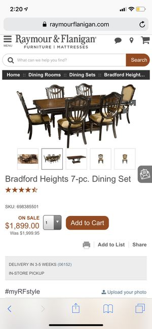 Bradford Heights 9-pc dining room set with rug included for Sale in Wethersfield, CT