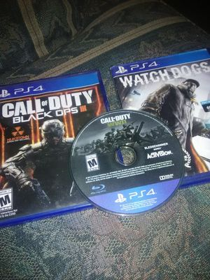 Game's PS4 never played must have internet. for Sale in Plattsburg, MO