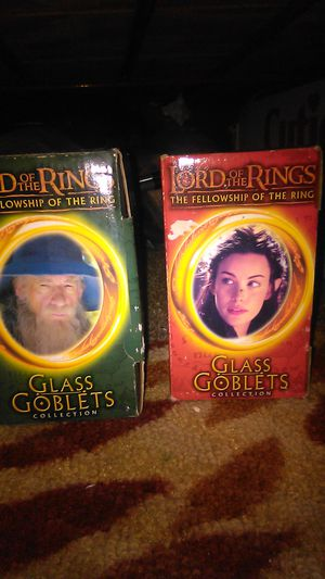 Lord of the rings goblet collection glasses for Sale in Riverview, FL