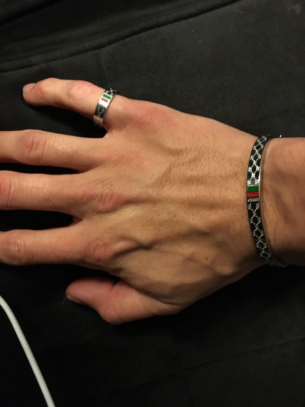 Gucci ring and bracelet