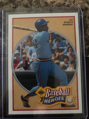 Hank Aaron 1991 UpperDeck Baseball Heroes for Sale in Chelmsford, MA