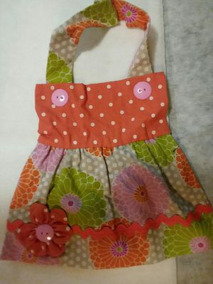 New Handmade Flowers Apron Dress Girl Baby Bib for Sale in St. Louis, MO