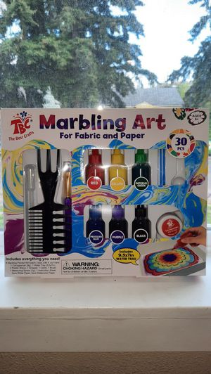 Marbling Art Kit for Fabric or paper for Sale in Tacoma, WA