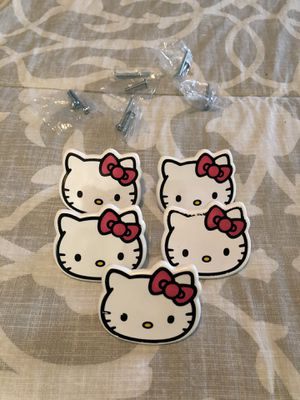 Hello kitty dresser handles (5) for Sale in San Bernardino, CA