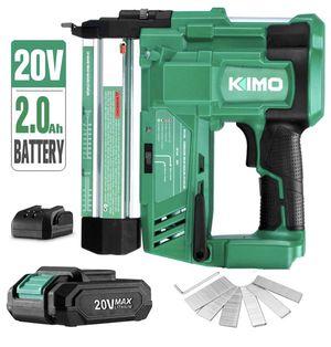 KIMO 20V 18 Gauge Cordless Brad Nailer/Stapler Kit, 2 in 1 Cordless Nail/Staple Gun w/Lithium-Ion Battery&Fast Charger, 18GA Nails/Staples, Single or for Sale in Oakland Park, FL