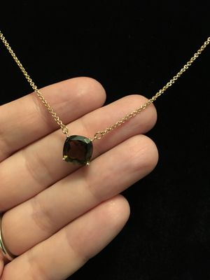 Smoky quartz rose gold over silver necklace for Sale in West Richland, WA