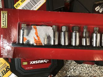 "9-piece 1/2""dr Torch And Hex Bit Socket Set for Sale in Brandon,  FL"