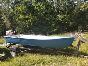Boat with trailer & Johnson 8.0 for Sale in Unity, ME