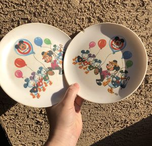 Vintage Mickey Mouse plates 1950-1960s for Sale in Glendale, AZ