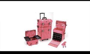 2 in 1 Pink Rolling Makeupcase for Sale in San Bernardino, CA