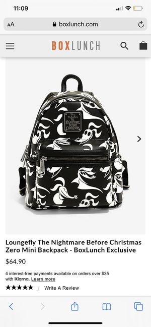Nightmare before Christmas back pack for Sale in Manteca, CA