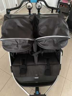 Thule Urban Glide 2 Double Stroller rain and mosquito cover included Running Jogging Walking Great for theme parks. for Sale in Miami, FL