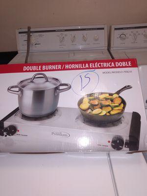 Double durner hornilla eléctrica doble 15 for Sale in Miami Gardens, FL