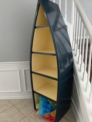 Bookshelves boat shape needs tlc for Sale in Pompano Beach, FL