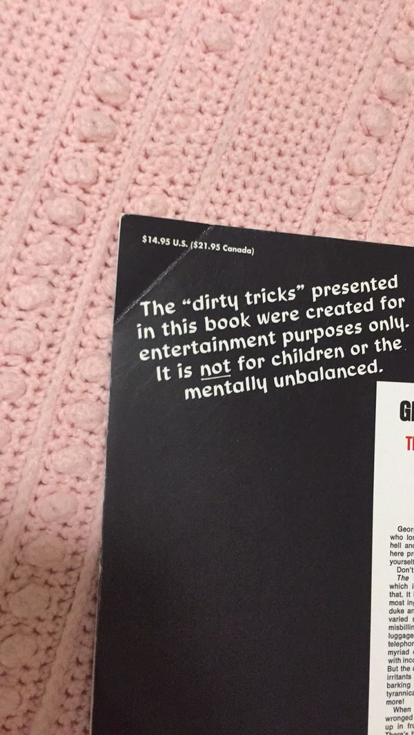 Getting Even The Complete Book Of Dirty Tricks