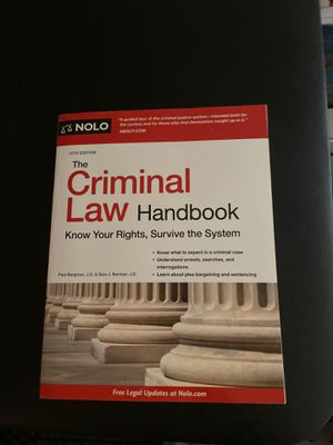 Criminal Law handbook for Sale in Fremont, CA