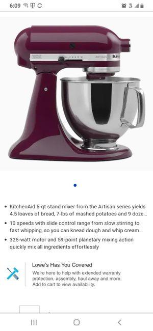 Kitchen aid mixer in purple for Sale in Brighton, CO