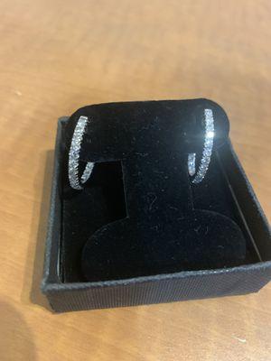 Diamond Hoop Earrings 1 karat a piece for Sale in Houston, TX