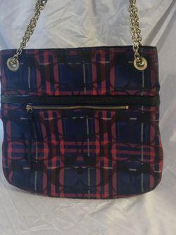 Coach poppy plaid shoulder bag handbag purse for Sale in Huttonsville,  WV