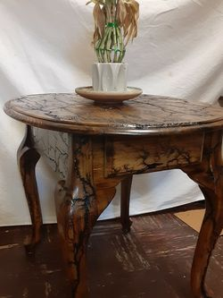 Shocked up Oval Table With Drawer for Sale in Fairmont,  WV