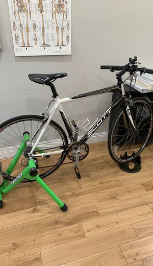 Scott Speedster bike + Kinetic trainer for Sale in South Pasadena, CA