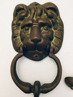Lion Door Knocker - Solid Brass for Sale in Grand Island, FL