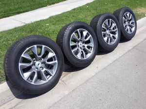 """20"""" CHEVY SILVERADO RIMS AND TIRES for Sale in Fontana, CA"""