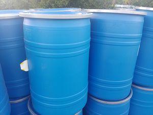 30 Gallon Heavy Duty Removable top barrels for Sale in Las Vegas, NV