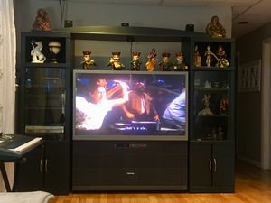 Entertainment Center AND 60 inch TV for Sale in Mount Airy, MD