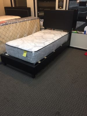Twin Size Mattress & Bed Frame for Sale in Florissant, MO