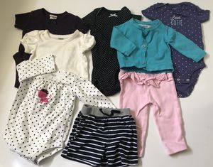 8 piece lot- Cute Baby Girl Clothes Brands Lot 3-6M for Sale in Sacramento, CA
