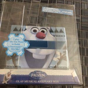 Frozen Olaf musical keepsake box for Sale in Dearborn, MI