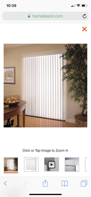 Vertical blinds for a sliding door (please read all) for Sale in Victorville, CA