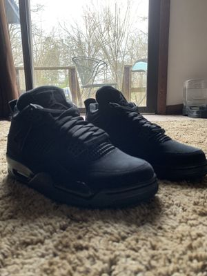 Jordan black cat 4's for Sale in Salisbury, NC