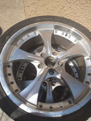 19 inch size rims good tires trade for mini bike scooter or mini chopper for Sale in Garden Grove, CA