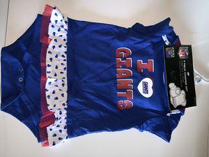 Ny giants nfl 3 piece creeper set booties, bib, onesie 24m for Sale in Killeen, TX