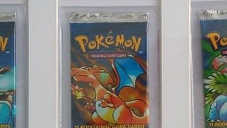 Framed Sealed Original Base Set Pokemon Art Set Booster Packs. Charizard Blastoise Venusaur for Sale in Mountlake Terrace,  WA