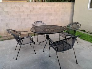 Iron patio set price is firm for Sale in Fresno, CA