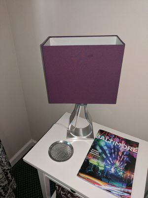 Purple lamp for Sale in Baltimore, MD