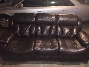 Reclining sofa and one set for Sale in Fort Wayne, IN
