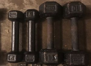 5& 10 lbs weights for Sale in Florissant, MO