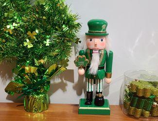 Nutcracker, Shamrock ornaments & Tinsel Shamrock Decor for Sale in Billerica,  MA