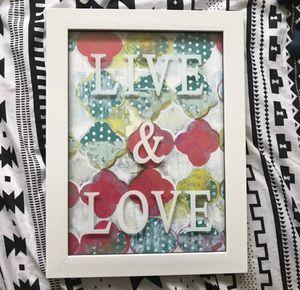 ❌LIKE NEW ❌ Live Love Canvas wall hanging Room Decor ikea Walmart target home interior pbteen for Sale in Virginia Beach, VA