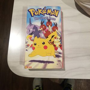 VHS Original POKĖMON The Great Race 1997 Clasic Movie for Sale in Pasadena, TX