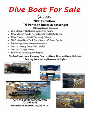 Pontoon dive boat for Sale in Henderson, NV