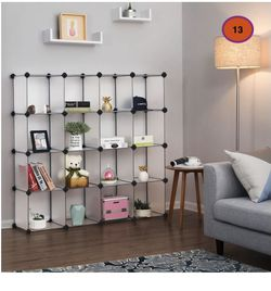 16 Cubes Storage Organizer SONGMICS Cube Storage, Plastic Cube Organizer Units, DIY Modular Closet Cabinet, Bookcase Included Anti-Toppling Fittings a for Sale in South El Monte,  CA