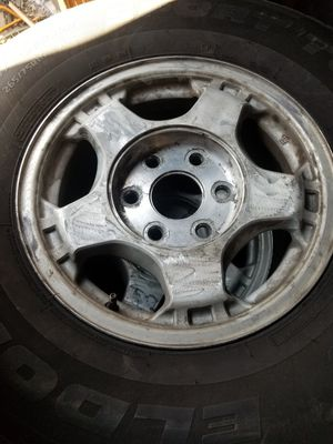 Chevy 6lug wheels and tires with spare for Sale in Pottstown, PA
